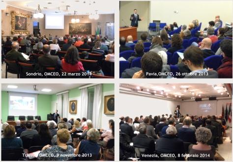 Alcuni corsi tenuti presso gli OMCEO.
